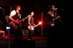 The Slants performing at the 2016 Saboten Con at the Sheraton Grand Phoenix in Phoenix, Arizona, photo by Gage Skidmore.